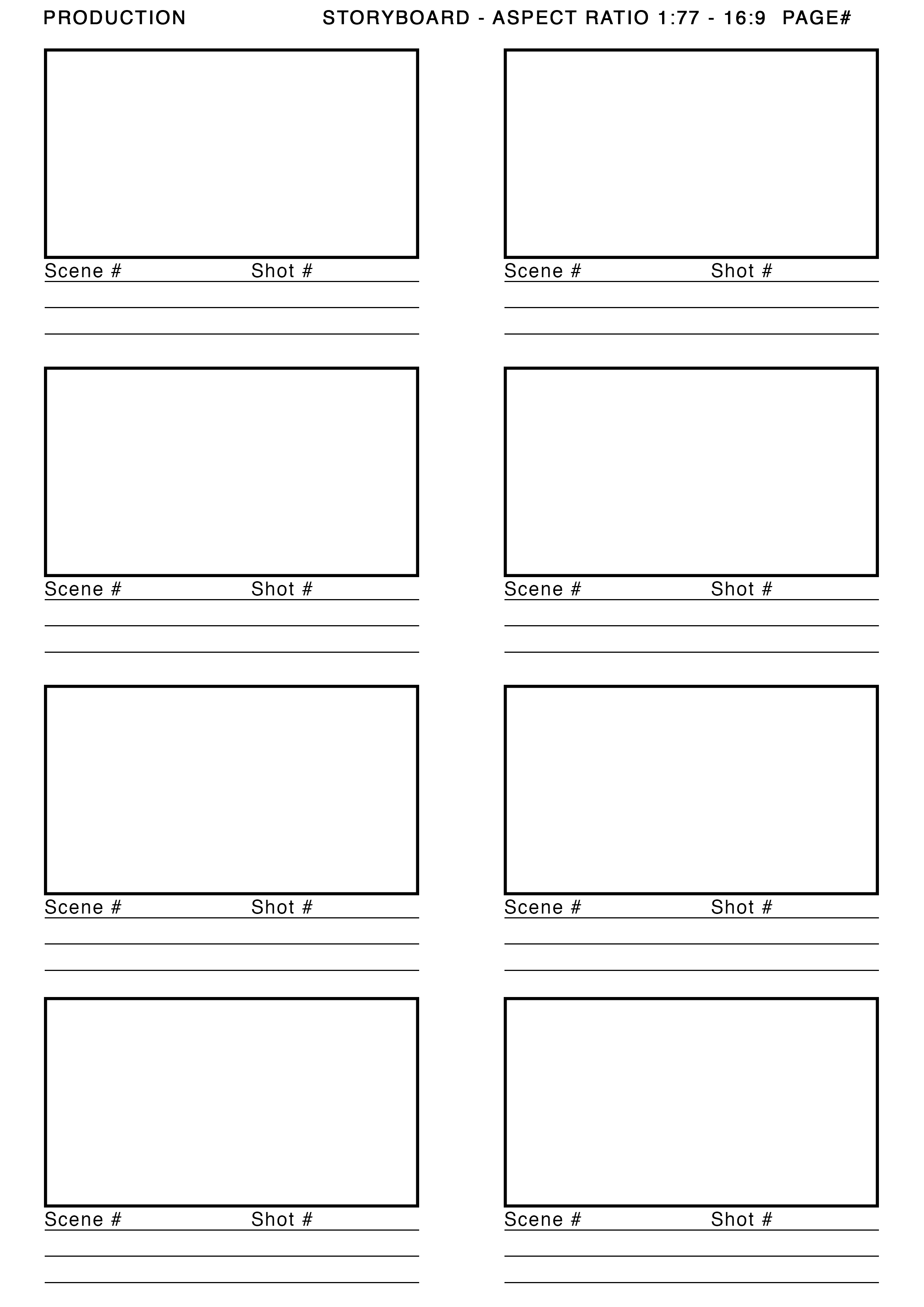 image gallery storyboard template 16 9