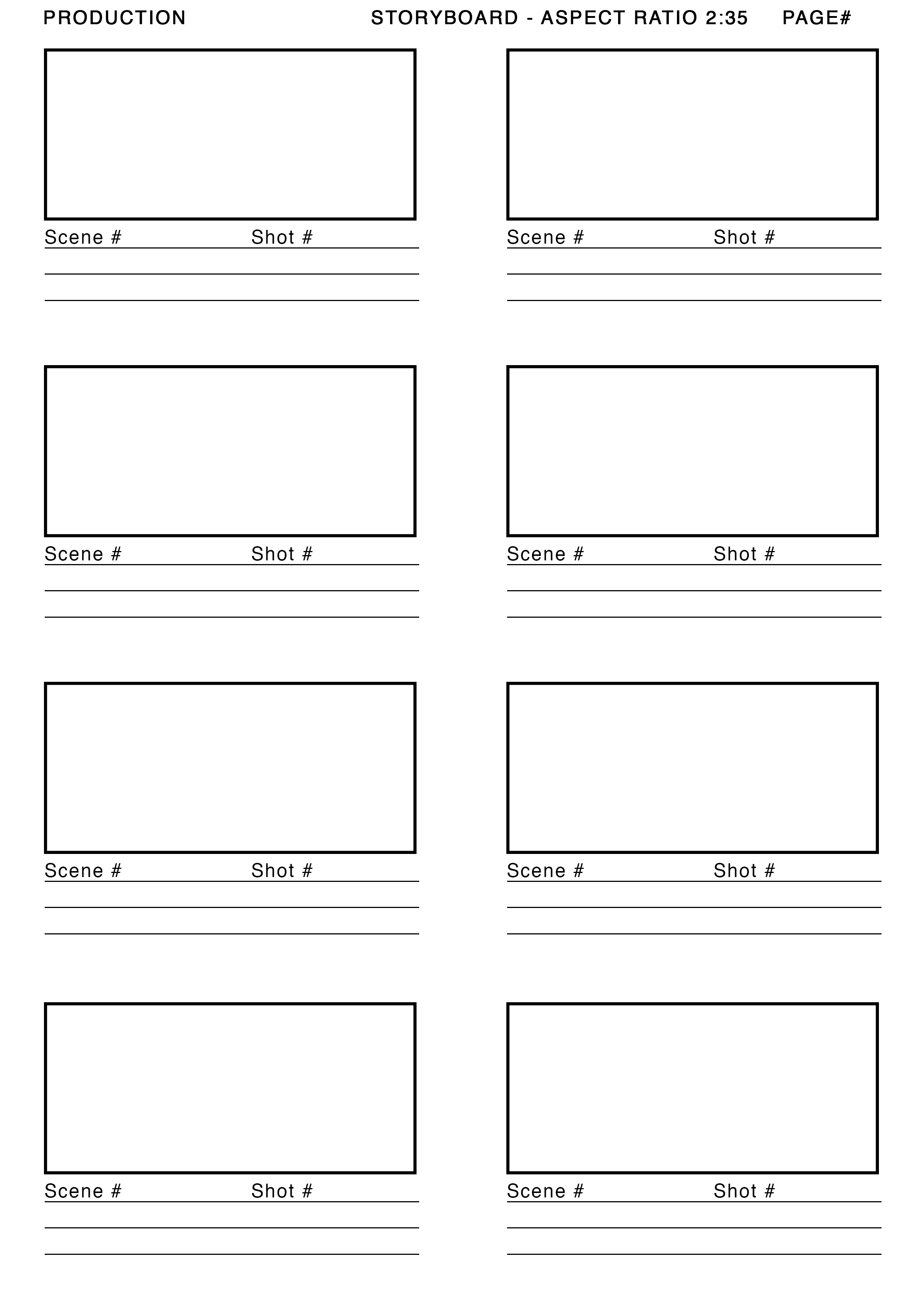 Short Film Storyboard Template The New Worst Witch Episode 1
